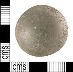 Crystal ball from a 6th cen. female grave on the Isle of Wight. Found with a silver-gilt spoon.