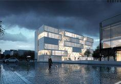 Neben der Blue Box - Netzwerkarchitekten gewinnen Wettbewerb der Hochschule Bochum