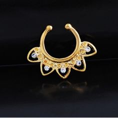 Yellow gold plated fake septum ring New. Stunning yellow gold plated fake septum ring. Thank you for visiting my closet, please let me know if you have any questions. I offer great discounts on bundles  also available in rose gold and silver - there're separate listings for those. Boutique Jewelry