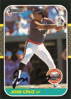 MLB Collectible Jose Cruz Autographed Signed Houston Astros Baseball Card. Comes with certificate of authenticity.