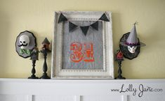DIY #Halloween Mr. and Mrs. Skull plaques (Could make them Day of the Dead plaques instead!) - Also LOVE the 31 framer!