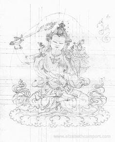 My first drawing of Manjushree, the Buddha of Wisdom