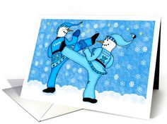 7 best holiday martial arts greeting cards images on pinterest in snowmen martial arts holiday greeting card holiday greeting cards christmas cards new year card m4hsunfo