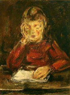 "María Gutiérrez Blanchard ""Jeune fille lisant"""