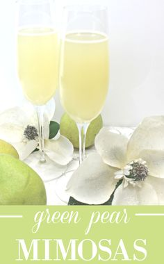 Green pear mimosas. So good!