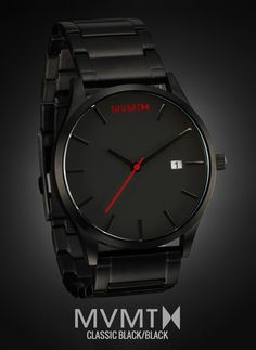 The MVMT Classic Black/Black is the quintessential minimalist timepiece for today's gentleman. This watch features a 3-hand Japanese quartz movement, a 45mm stainless steel case, and a genuine leather band that will have your wrist feeling like it's on vacation. At $100 and free shipping and returns worldwide, you can't afford not to. Click the buy button to get it now!
