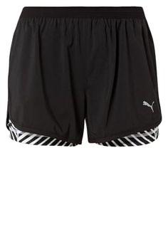 BLAST 2-IN-1 - kurze Sporthose - black/white