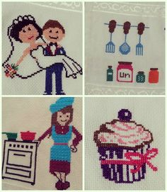 Cross Stitch Designs, Cross Stitch Embroidery, Diy And Crafts, Kids Rugs, Fictional Characters, Crossstitch, Summer, Fabric Painting, Amor