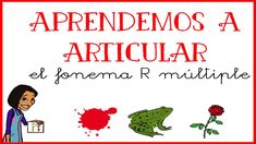 Aprendemos a pronunciar el fonema /R/ múltiple Speech Language Therapy, Speech And Language, Speech Therapy, Ludo, Play To Learn, Classroom, Teacher, Education, Learning