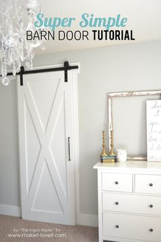 Make a simple Barn Door using only two pieces of wood. Its fast, easy and leaves no visible joints. | via Make It and Love It