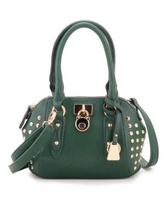 88880a6ec6f6 Look at this Fabulous Age Green Stud Convertible Satchel on  zulily today!  Convertible