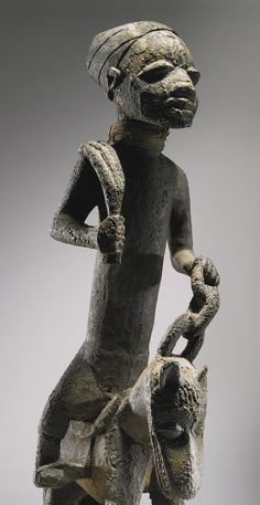 YORUBA EQUESTRIAN FIGURE, IBARAPA REGION, NIGERIA Height: 16 1/2 inches (41.9 cm)