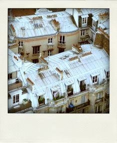 Paris rooftops, from The Cherry Blossom Girl blog
