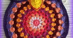 crochet owl, owl, crochet trivet, trivet, mandala