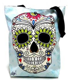 torby XXL - damskie-Duża torba z czaszką