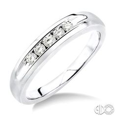 1/4 Ctw Mens Diamond Ring in 14K White Gold