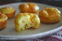 Three Cheese Breakfast Puffs. Like a little cheese souffle in a bite! #lowcarb, #glutenfree