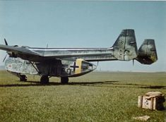 A brand new Luftwaffe machine of Gotha Go 244 (NI+FQ) from Special Purpose Battle Group (Kampfgruppen zur besonderen verwendung, or KGr.z.b.V.) 104 or 106 with a large personal emblem beneath the cockpit. Powered version of the glider.