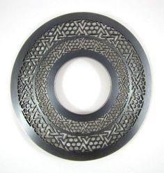 Stephen Bottomley  Drape Bangle  2007  oxidised silver and acrylic  W:18.5cm