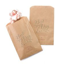Rustic Vines Treat Bags - Kraft  - unique favor packaging - wedding favors - party favors, unique wedding favor packaging, unique party favor packaging #weddingfavors