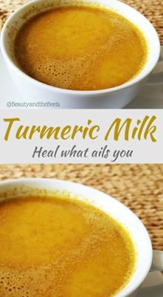 Turmeric Golden Milk - Turmeric Milk Beauty and the Beets heal what ails you - Fresh Tumeric Recipes, Tumeric Milk Recipe, Ayurvedic Recipes, Coconut Milk Recipes, Turmeric Golden Milk, Turmeric Milk, Protein Smoothie Recipes, Healthy Smoothies, Fruit Smoothies