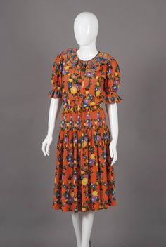 Yves Saint Laurent, Dress, 1970's, Silk, size EU 34,  Dorotheum Vintage www.dorotheum.com