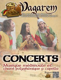 La Compagnie #Médiévale. #Vagarem. Concert et animations de rues et places.
