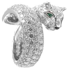 1stdibs | CARTIER+Panthere+white+gold,+diamond,+emerald,+onyx+ring.