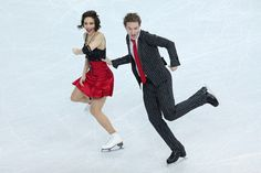 Nathalie Pechalat and Fabian Bourzat of France compete in the Figure Skating Team Ice Dance - Short Dance during day one of the Sochi 2014 W...