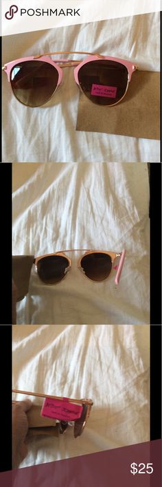 Betsey Johnson pink sunglasses new with tags Cute feminine 100% UV protection new with tags great Betsey Johnson style authentic. Betsey Johnson Accessories Sunglasses