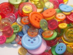 Over the Rainbow Button Assortment 25pcs by SupplyOwl on Etsy, $1.50