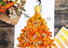 素敵すぎ♡本物の花びらを使って描かれたドレスが完全に芸術*のトップ画像