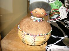 Handmade Seminole Indian pin cushion.