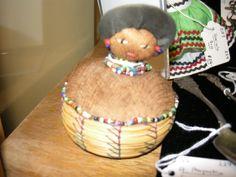 Handmade Seminole Indian pin cushion.