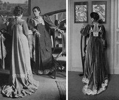 Maria van de Velde wearing a Henry van de Velde tea gown (dark gown)