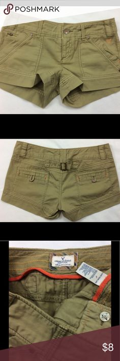 AMERICAN EAGLE SHORTS SIZE 4 Cute tan shorts, never worn, size 4 American Eagle Outfitters Shorts
