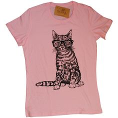 Womens Tshirts Hipster Cat Tee Womens Animal T Shirt Pink Tees Pink... (€19) ❤ liked on Polyvore featuring tops, t-shirts, blue, women's clothing, print t shirts, red t shirt, hipster t shirts, cotton tee and lightweight cotton t shirts