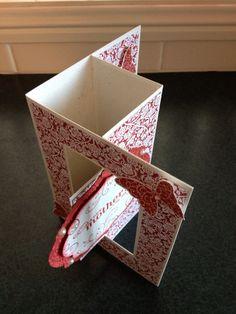 Joy Fold Card, Tri Fold Cards, Fancy Fold Cards, Folded Cards, Screen Cards, Swing Card, 21st Birthday Cards, Origami, Karten Diy