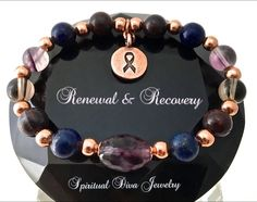Cancer, Immune System Recovery, Healing Crystal, Copper Reiki Bracelet