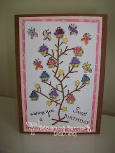 Birthday Card- Stamps By Judith, K. Andrew Design Sentiments