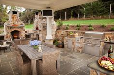 Wow! Now that's an outdoor kitchen.