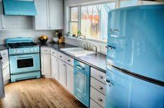 Холодильники в ретро-стиле для современного интерьера | Дом Мечты