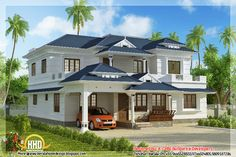 Remarkable Exterior Kerala House Colors : Traditional Kerala Home Design Architecture House With Charming Exterior Kerala House Colors Kerala House Paint Colors Exterior Indian Home Design, Kerala House Design, House Roof Design, Simple House Design, Modern House Design, Model House Plan, Dream House Plans, Style At Home, Small Dream Homes