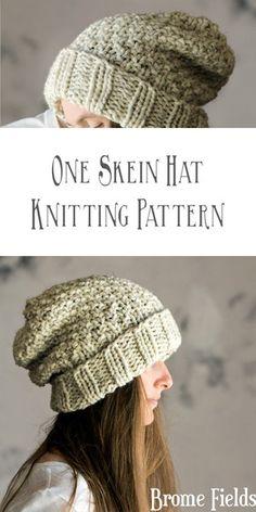 One Skein Hat Knitting Pattern : Innocence by Brome Fields - Brome Fields Knitt. One Skein Hat Knitting Pattern : Innocence by Brome Fields – Brome Fields Knitting Patterns – Beanie Knitting Patterns Free, Beanie Pattern, Easy Knitting, Loom Knitting, Knitting Designs, Knitting Projects, Crochet Patterns, Knit Crochet, Crochet Hats