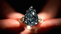 The world's largest flawless vivid blue #diamond is up for auction at Christie's with a whopping $25 million price tag.