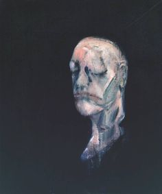 (Francis Bacon, Study for Portrait II (After the Life Mask of William Blake), 1955.14) Tumblr