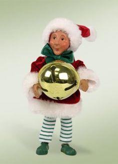 "Kindles ""Dingaling with Jingle Bell"" Elf Bendable Poseable Christmas Figure"