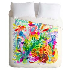 Stephanie Corfee Painted Garden Duvet Cover   DENY Designs Home Accessories