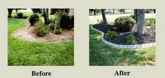 Our Stone Edge Product, Before And After Photos. Order Your Edging Today At  YardProduct.com. #landscaping #gardening.