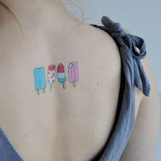 "$5 (set of 2) ""Popsicles""     tattly.com (designy temporary tattoos)"
